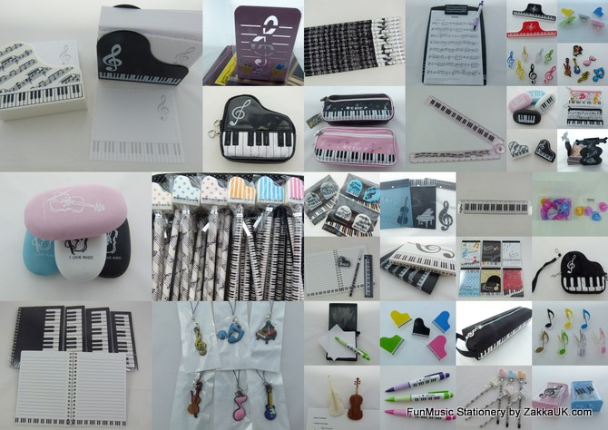 Music Themed Stationery