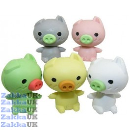 5 pieces Kawaii  Cute Mini Animals Piggy Pig Erasers