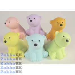 6 pieces Iwako Wild Animals 6 Colour Polar Bear Japanese Erasers Made in Japan