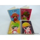 ZakkaUK Fruit Girl Design - Hardback Spiral Bound A6 Notebook (24 books - 3 Assorted Designs - 1 design out of stock)