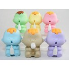 6 pieces Dream  6 Colours Baby Babies Japanese Erasers Made in Japan