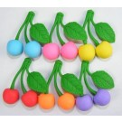 6 pieces Iwako  Fruits Cherry 6 Colours Japanese Erasers Made in Japan