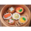 6 pieces Iwako  Chinese Dim Sum Japanese Erasers Made in Japan