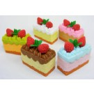 6 pieces Iwako  Creamy Cake Slices Japanese Erasers Made in Japan