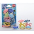 Iwako 1 set Blister Aquarium Sea Animals Gift Set Japanese Erasers Made in Japan