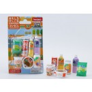 Iwako 1 set Blister Pack Drinks and Snack Foods set