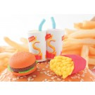 4 pieces Iwako  Fast Foods Milkshakes Japanese Erasers Made in Japan