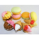 10 pieces Iwako  French Pastry Desserts Japanese Erasers Made in Japan