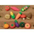 10 pieces (Random) Iwako  Vegetables Japanese Erasers Made in Japan