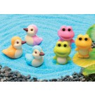 6 pieces Iwako  Frogs & Ducks Japanese Erasers Made in Japan