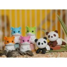 6 pieces Iwako  Friendly Hamsters & Cool Panda Chill Out Japanese Erasers Made in Japan