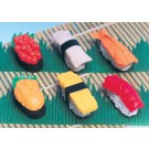 6 pieces Iwako  Japanese Sushi Japanese Erasers Made in Japan