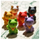 6 pieces Iwako  Good Fortune Cat 6 Colours Japanese Erasers Made in Japan