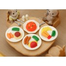 4 pieces Iwako  Western Lunch Plate Japanese Erasers Made in Japan