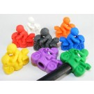 4 pieces Iwako  Motorcycle Rider 8 Colours Pencil Top Japanese Erasers Made in Japan