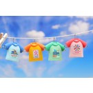 4 pieces Iwako  Colourful T-Shirt Erasers Made in Japan