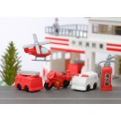 5 pieces Iwako  Toys Fire Engine Rescue Ambulance Japanese Erasers Made in Japan