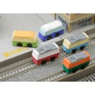 6 pieces Iwako  Bus & Train Transport Japanese Erasers Made in Japan