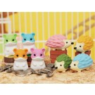 ZakkaUK Iwako 60pcs Hedgehog & Hamster Japanese Erasers in Wholesale Box