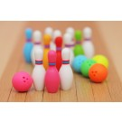 5 pieces Iwako Bowling Ball & Pins Japanese Erasers Made in Japan