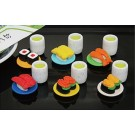 ZakkaUK iwako 60 packs japanese sushi and tea sets Japanese Erasers