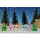 ZakkaUK Iwako 60pcs Snowman and Christmas Tree Japanese Erasers