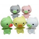 ZakkaUK Kawaii 40pcs Cute Mini Animals Piggy Pig Erasers Wholesales