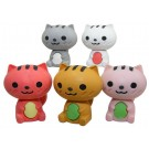 5 pieces Kawaii  Cute Mini Animals Pussy Cat Erasers