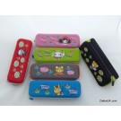 ZakkaUK Designer Novelty Zipper Pencil Cases Cheerful Cartoon Design (12pcs - 4 Assorted Designs)