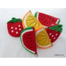 ZakkaUK Fruits Design Zipper Pouches Coin Purse  (6 pieces)