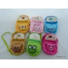 ZakkaUK  Kawaii Zipper Pouches Cute Animal Face Design  (12pcs - 6 Assorted Designs)