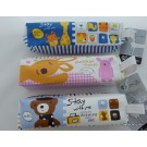 ZakkaUK Novelty Pencil Cases Zipper & Hand Strap Cute Animals Design (12pcs - 3 Assorted Designs)