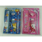 ZakkaUK Stationery Set - Teddy Bear (Blue) and Rabbit Bunny (Pink) Design (12pcs - 2 assorted designs)