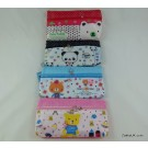 ZakkaUK Novelty Pencil Cases Zipper Teddy Bear Design  (12pcs - 4 Assorted Designs)