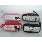 ZakkaUK  Kawaii Zipper Pouches Zakka Style Animal Design (6pcs - 4 Assorted Designs and Colours)